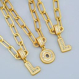 Hot Selling 26 Englisch Brief Anhänger DIY Halskette NHAS267941