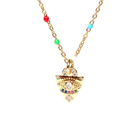 Triangle Shield Pendant Diamond Evil Eye Necklace NHPY267968's discount tags