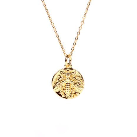 round medal coin bee diamond pendant necklace  NHPY267972's discount tags
