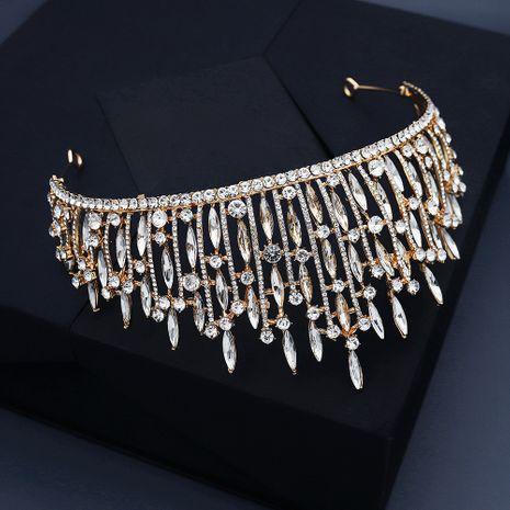 luxury crystal  goddess headdress bride wedding crown NHHS267992's discount tags