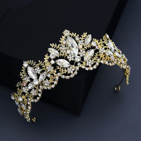 retro palace style queen crown rhinestone alloy party crown NHHS267995's discount tags
