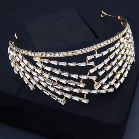 Legierung Strass leicht Luxus Stirnband Barock Brautkrone NHHS267996's discount tags