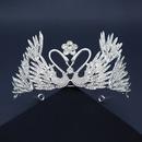 nueva corona de cisne de diamantes de imitacin de aleacin NHHS267997