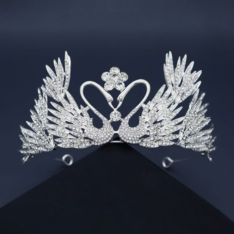 new alloy rhinestone swan crown NHHS267997's discount tags