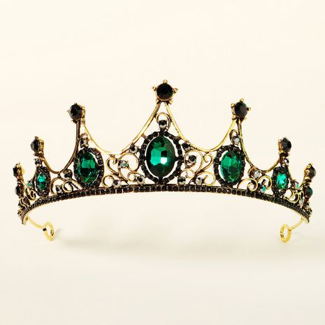 rhinestone queen  hollow alloy  retro baroque crown  NHHS268002's discount tags