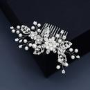 wedding bridal headdress alloy rhinestone handmade pearl hair comb  NHHS268005