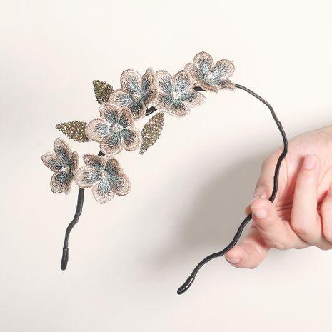 bandeau perlé en trois dimensions fait main fleur rétro fleur NHHS268006's discount tags