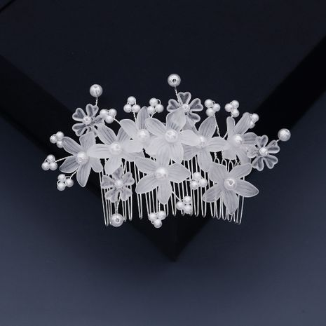 Korean bride transparent acrylic flower insert comb  NHHS268007's discount tags