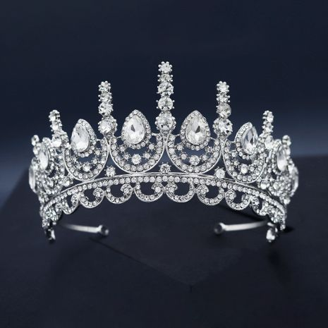 Korean Luxury Alloy Rhinestone Party Headdress Bride Crown NHHS268010's discount tags