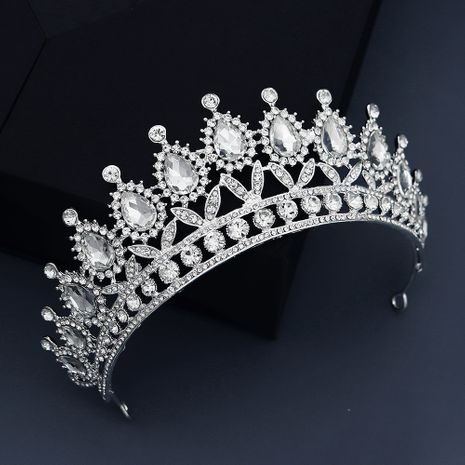 light luxury rhinestone retro semicircle queen crown  NHHS268012's discount tags