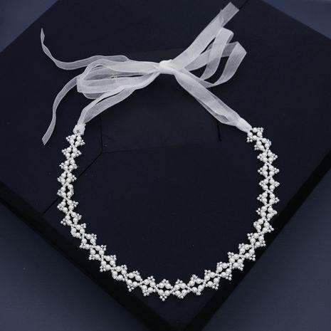 Collier doux bijoux bandeau perle banderole NHHS268016's discount tags