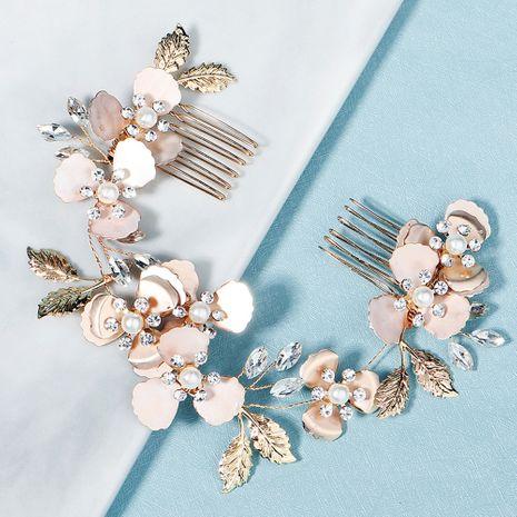 peigne de paire de strass perle à la main de luxe léger de mariage NHHS268018's discount tags