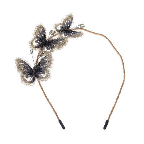 Bandeau fait main de broderie en trois dimensions papillon de beauté coréenne NHHS268021's discount tags