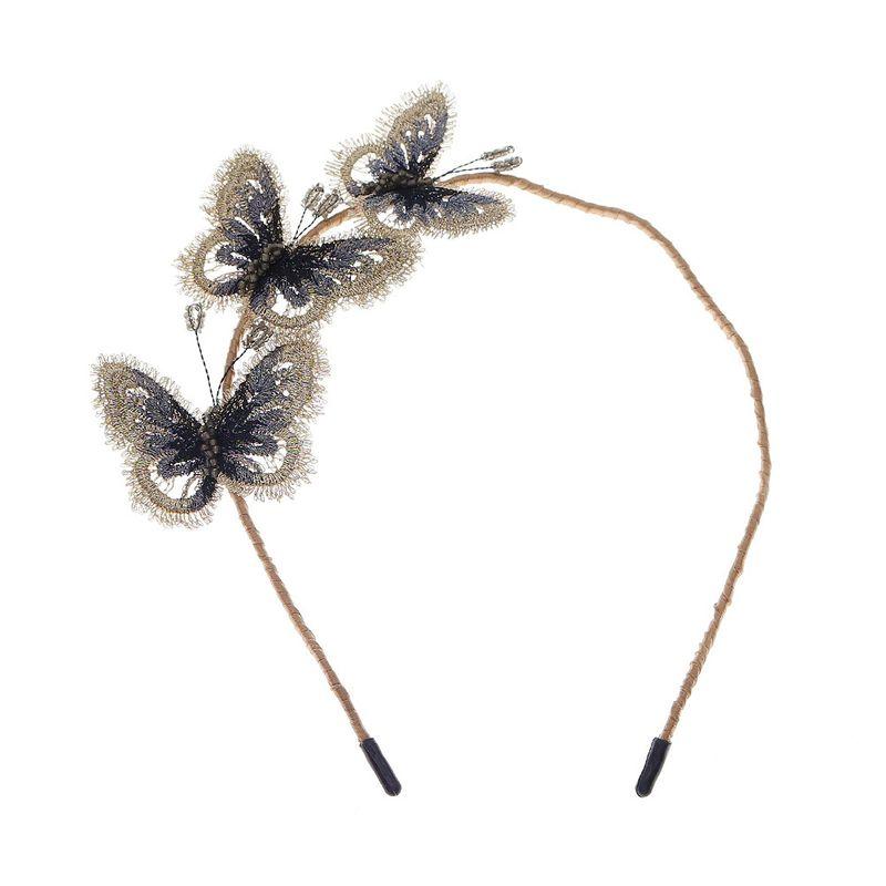 Korean fantasy beauty butterfly three-dimensional embroidery handmade headband NHHS268021