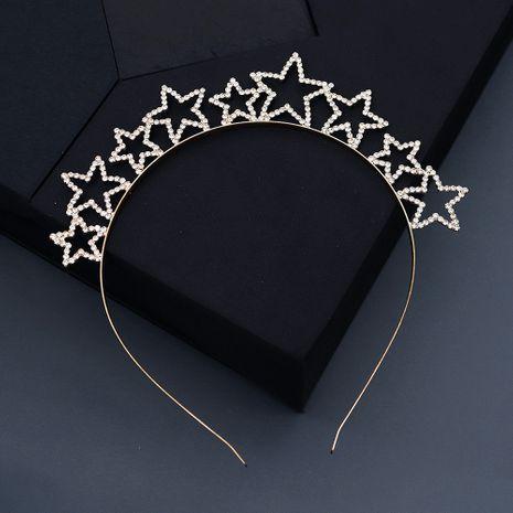 Korean rhinestone stars sweet crown all-match hair band NHHS268024's discount tags