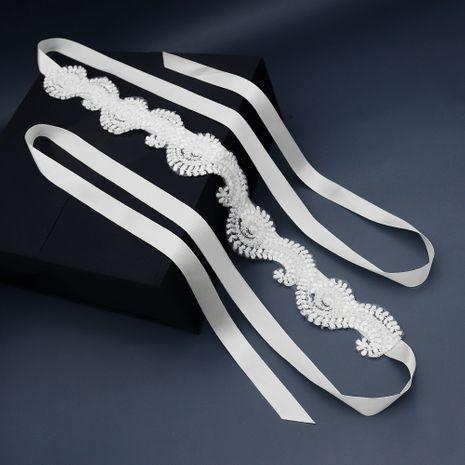 Accessoires de mariée coréenne élégant ruban de satin dentelle fleur ceinture en tissu NHHS268026's discount tags