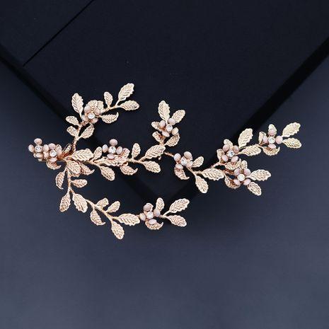 handmade rhinestone wedding headdress retro gold  hairpin  NHHS268027's discount tags