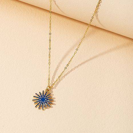 Fashion Drop Oil Sunflower Necklace  NHGU268060's discount tags