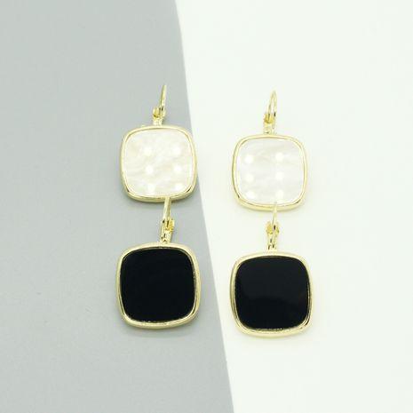 Boucles d'oreilles en argent 925 neuves noires et blanches NHGO268077's discount tags
