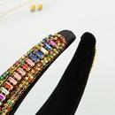 Nuevo lujo barroco retro perla de ala ancha con incrustaciones de cristal colorido diadema de diamantes NHLN268092