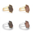 fashion trend multicolor crystal cluster ring  NHAN268197