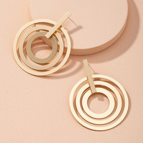 pendientes de círculo grande de aleación de oro de moda para mujer NHAI268214's discount tags