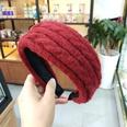 NHUX1174629-Burgundy-twist-yarn-flat-headband