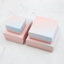 Fashion pink blue gradient color jewelry packaging box ring necklace bracelet gift packaging box NHQC268231