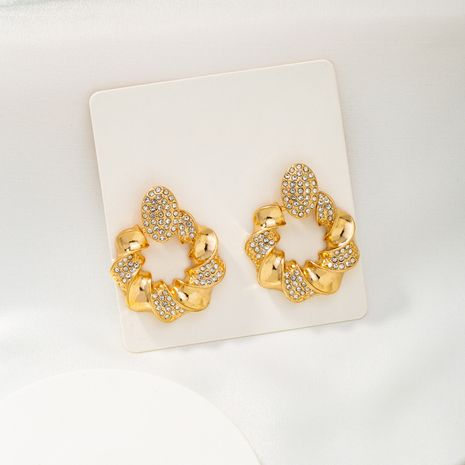 diamond simple and fashionable earrings NHQJ268256's discount tags