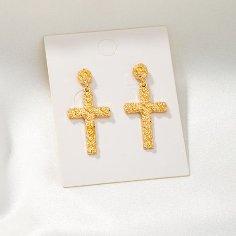 new simple alloy cross earrings  NHQJ268266's discount tags