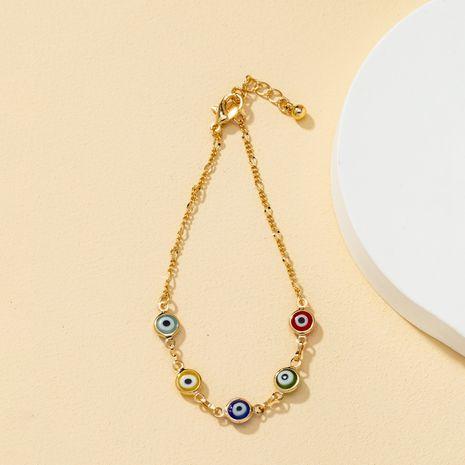 Korean colorful demon eye simple bracelet NHQJ268275's discount tags