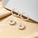 Korean Pearl white beautiful simple highlevel earrings  NHQJ268294