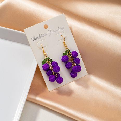 nouvelles boucles d'oreilles violettes à la mode NHQJ268302's discount tags