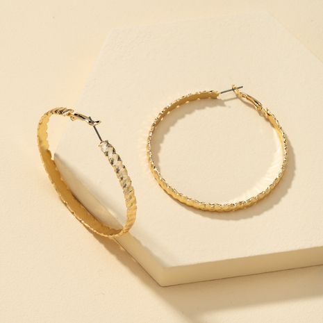 simple and exaggerated large hip-hop earrings wholesale NHQJ268310's discount tags