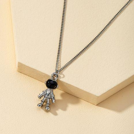 saucer retro astronaut planet couple necklace NHQJ268311's discount tags