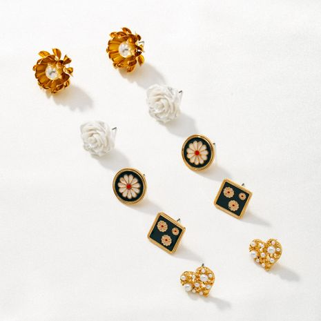 simple popular daisy flowers small earrings NHQJ268330's discount tags
