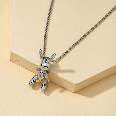 Korean rabbit hip hop retro necklace for couple NHQJ268338's discount tags