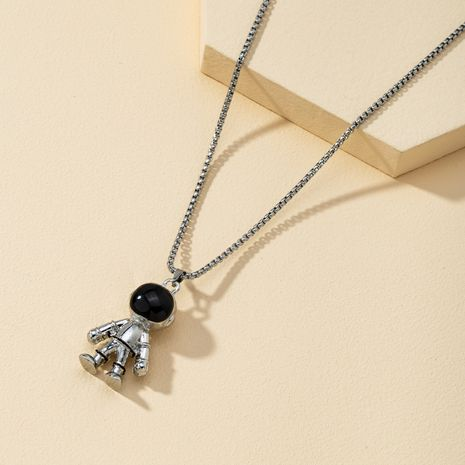 cute space series flying saucer retro astronaut planet universe couple necklace NHQJ268348's discount tags