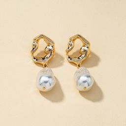 fashion new alloy pearl earrings  NHQJ268359
