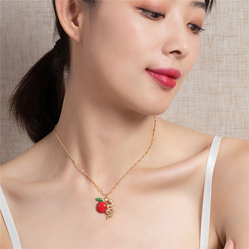 new fashion zodiac snake pendant necklace NHQJ268361