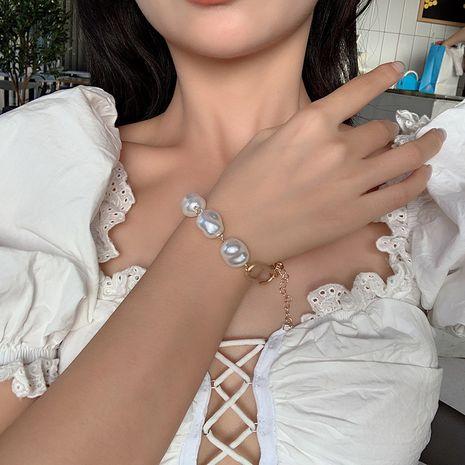 bracelet en métal simple perle irrégulière créative de mode NHRN268431's discount tags
