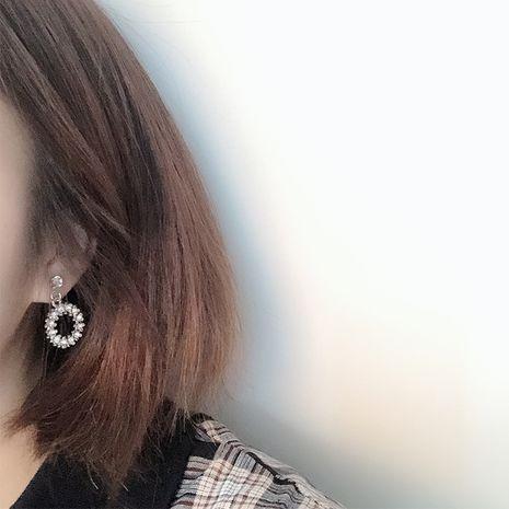 Korean fashion luxury zircon micro-inlaid rhinestone geometric circle earrings NHRN268434's discount tags