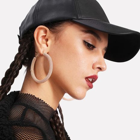 metal ring exaggerated geometric large frame circle earrings NHRN268435's discount tags