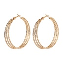 metal ring exaggerated geometric large frame circle earrings NHRN268435