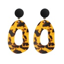 Acetate plate exaggerated earrings NHRN268438