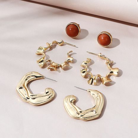 Korean  creative fashion  creative earring set NHPS268443's discount tags