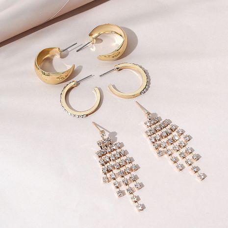 conjunto de aretes de moda NHPS268445's discount tags
