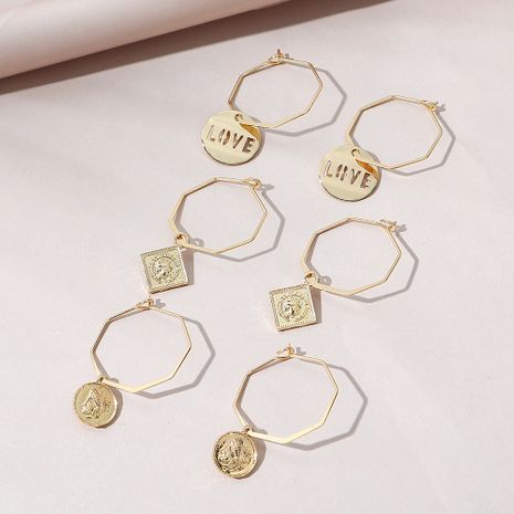 Korean  simple  fashion all-match  earring set NHPS268446's discount tags