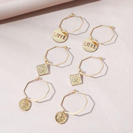 Conjunto de pendientes de todo fósforo de moda simple coreana NHPS268446's discount tags