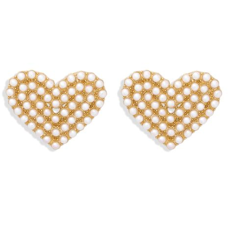 new alloy with diamonds autumn and winter multicolor fashion peach heart earrings NHJQ268490's discount tags